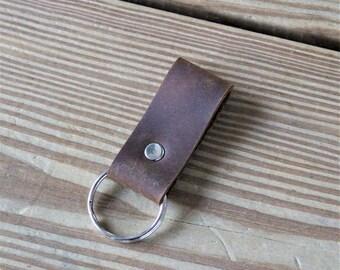 Single Loop Key Chain - Silver Hardware
