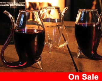 Sale! 10% off - Set of 4 Port Sipper Wine glasses - Port Glasses, Glass with straw, port, wine, brandy, glasses, straw,christmas