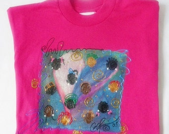 Hand Painted Afrocentric Girls Pink T shirt Afrocentric Kwanzaa Gifts Small Business Hand Painted Products