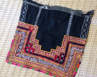 Vintage Handmade Hmong Fabric embroidered Hilltribe Textile patch supplies