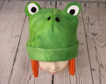Adult Frog Fleece Hat