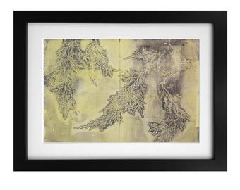 EverYellow Monotype Print 1/1 Jessica Chapman