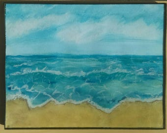 Beach scene, beach painting, beach art