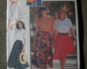 Butterick 4938 Misses Size 12-14-16 circular skirt