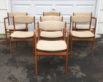 Set of Scandinavian Modern Style Teak Dining Chairs