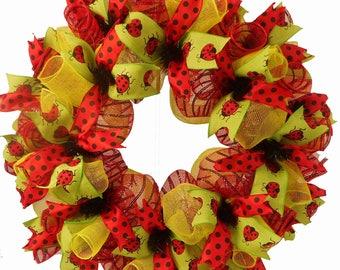 Lady Bug Wreath