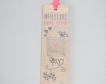 Wooden - best Grandma bookmark