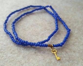 Cobalt blue elastic bracelets