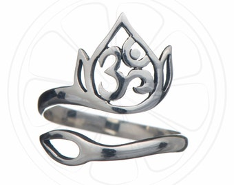Lotus Ring, Om Ring, Om Jewellery, Ohm, Lotus Flower Ring, Lotus Jewelry, Lotus Flower Jewelry, Ring, Silver Lotus, Sterling Silver, Ring,