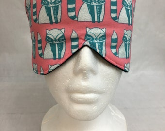 Raccoon Cotton Sleep Mask and Case Set, Eye Mask, Travel Mask