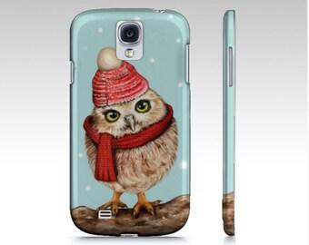 Owl phone case, owl case, owl mobile case, owl iPhone case,  owl Samsung Galaxy case, animal device case, owl tough mobile case, winter case