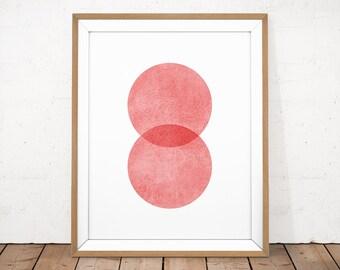 Pink Abstract, Pink Minimalist, Blush Pink Wall Art, Abstract Poster, Minimalist Poster, Pink Wall Art, Scandinavian Print, Geometric Poster