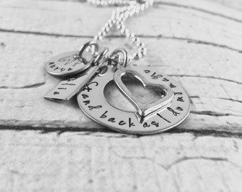 School nurse, Stand back and watch me do my magic hand stamped personalized necklace