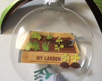 Personalized Gardener Ornament-Gardening Gift-Personalized Gift