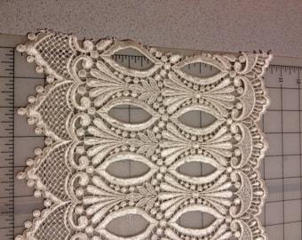"""Ivory Venise Bridal Lace 10.5"""" wide"""