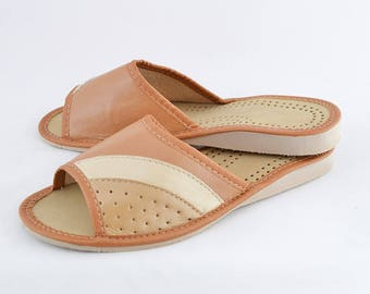 Womens Leather Slippers #21