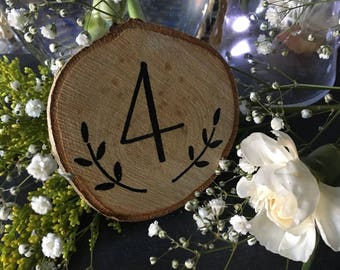 Rustic Wood Table Numbers small