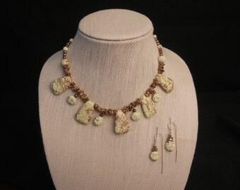 Lemon Meringue with Chocolate Sprinkles Necklace