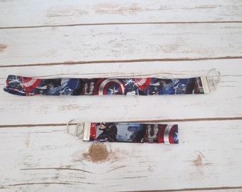 Captain America Key Fob and Lanyard