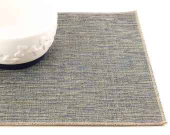 Pet Placemat, Choose Your Size, Dog Food Mat, Cat Food Mat, Litter Mat, Non Skid Mat, Waterproof Mat, Stain Resistant, Durable, Blue Tweed