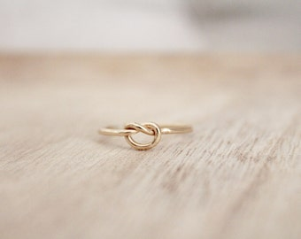 Gold knot ring, friendship ring, knot ring, knotted ring, dainty ring, gold ring, gold fill ring