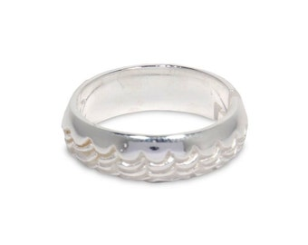 Silver Ring Band 1036