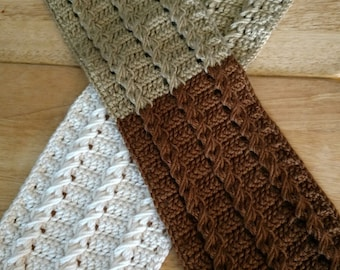 Colorblock Big and Tall Cable Scarf