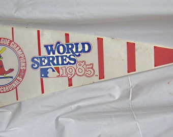 Vintage 1985 World Series NLC St Louis Cardinals Pennant. Free USA Shipping on this item