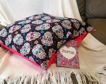 sugar skull pillow etsy. Black Bedroom Furniture Sets. Home Design Ideas