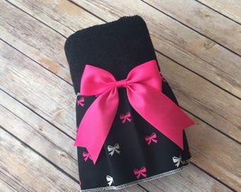 Ruffled Towels, Black Towels, Hand Towels, Bath Towels, Custom Towels, Pink