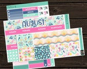 August Monthly View Planner Stickers Monthly Kit Vertical Kit  Stickers Monthly View Sticker Kit Planner Stickers MV011