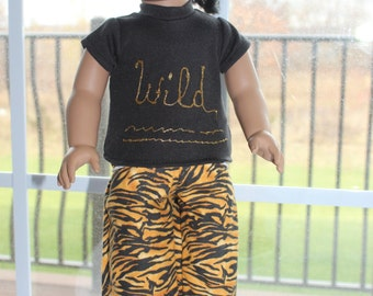 Wild Tee with Tiger Stripped Pants