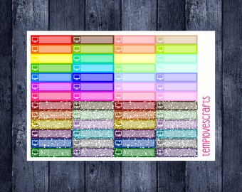 52 TV stickers for your planner