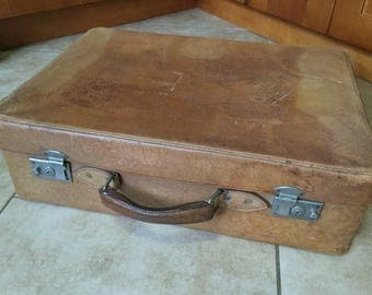 Rustic Antique Western Cowhide Suitcase, Luggage, Travel Case, Antler Brand