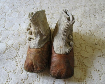 PRICE REDUCED: Victorian Childs Button Hi-top Shoes - Free Shipping