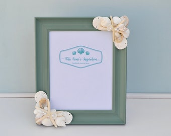 Beach Decor, Beach Wedding, Nautical Decor, Shell Frame, Beach Wedding Gift, Beach Picture Frame, Seashell Frames, Nautical Picture Frame