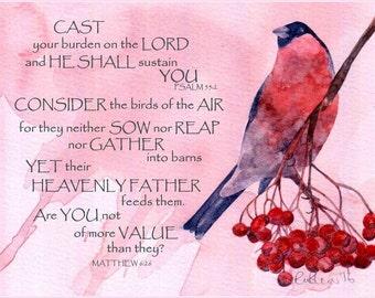 Bible Verse Birds Etsy