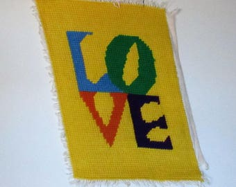 Vintage Yarn Wall-Hanging, Unfinished