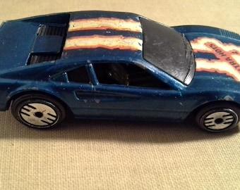 Vintage Hot Wheels Ultra Hots Ferrari 308 Street Beast, Vintage Mattel Inc, Die Cast Car Malaysa, Blue, 1977