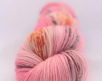 Hand-dyed yarn - sock yarn - superwash - merino - dyed-to-order - speckles - ELLA