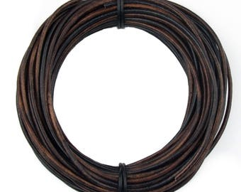 Gypsy Sippa Round Leather Cord 3mm,25 meters (27.34 yards)