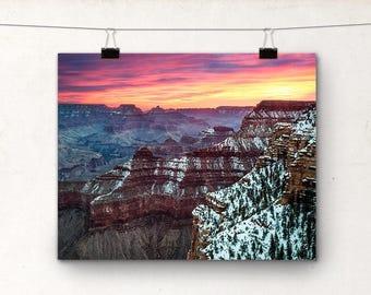 Grand Canyon Sunrise, Winter, Landscape Photography, Arizona USA