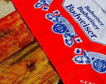Vintage 80s Budweiser Beer Unused Bandana Handkerchief