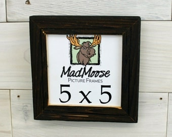 """5x5 Charcoal Wood [Chunky x 1.25""""] Picture Frame"""