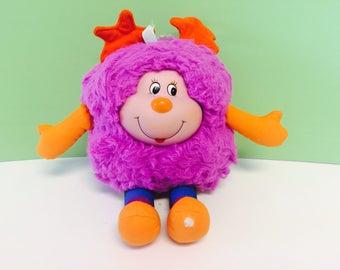 Vintage Rainbow Brite, Sprite Doll, Violet, Purple Sprite, IQ Sprite, Rainbow Brite Stuffed Animal, 1983 Mattel, Hallmark,1980s Toys