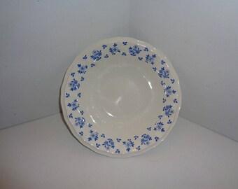 "Enoch Wedgwood Antoinette Blue Flowers 8.5"" Round Serving Bowl"