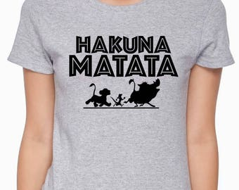 Hakuna Matata Shirt; No Worries; Lion; Baby; Youth; Adult