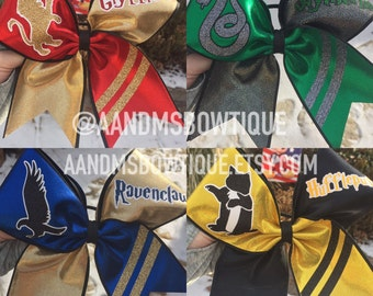 Hogwarts House Cheer Bows