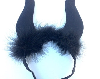 Maleficent horns inspired running headband