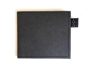 WALLET vegan black eco friendly for men him unisex design high quality gift casual simple cool elegant minimalist